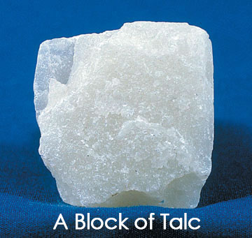 A block of the mineral talc.